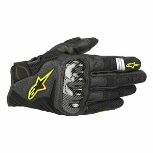 """ALPINESTARS """"SMX-1 AIR V2"""" GLOVES TOUCHSCREEN POLYMER KNUCKLES YELLOW PICK SIZE"""