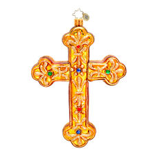 Christopher Radko - Gilded Jewels - Jeweled Gold Cross Retired Ornament 1017332