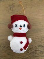 Vintage Snowman Syrofoam Felt Christmas Ornament Japan