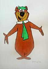 Unikat Mooseart Comic Zeichnung Yogi Bear Gouache  Papier 21x30cm Original