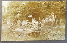 circa 1910 Backyard Garden Bridge Alaska real photo postcard Rppc