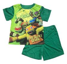 New Summer Kids Boy Pyjamas Top & Shorts Set TMNT Ninja Turtle Size 4-10