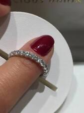 PLATINO Half Eternity Ring 0.75 KT HSI Diamond qualità Lady Ring GOY600