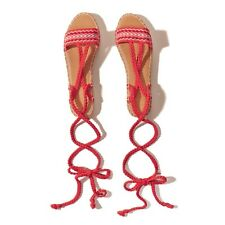 Hollister Co. HCO Espadrille Lace Up Sandals SIZE UK 5.5 US 8 NEW!