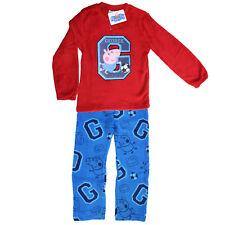 Peppa Pig George Fleece Bedtime Pajama Kids Sleepwear Pyjamas PJ Age 4-5 Years