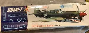 Comet Curtiss P40 Tiger Shark Flying Balsa Wood Scale Model SEALED