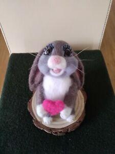 Handmade needle felted cute bunny