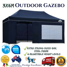 NEW 3x6M Outdoor Gazebo Instahut Aluminium Folding Camping Garden Outdoor - Navy