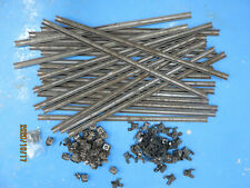 Old Stair rods. (26) with fittings. Metal. 682mm long. Used