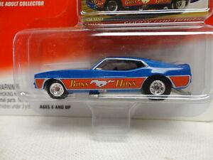 """Johnny Lightning FORD MUSTANG """"DIGGER"""" FUNNY CAR Classic Plastic BOSS HOSS Blue"""