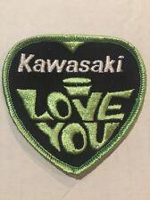 Vintage Patch NOS Kawasaki I Love You Motorcycles Biker 70s Rat Hot Rod