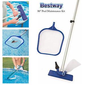 "Bestway 80"" Flowclear Lay-Z-Spa Swimming Pool Floor Cleaning Maintenance Kit"