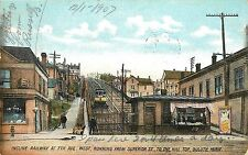 Postcard Incline Railway at 7th Ave. West running from Superior St. Duluth MN
