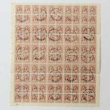 Jordan 1942 Sc#199 UNWMK 1946 Post marked Full Sheet CTO no Gum