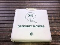 Vintage Green Bay Packers Coca Cola 1970's Seat Cushion w/ Handle