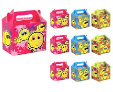 EMOJI PARTY BOXES Kids Smiley Themed Birthday Bags Smile Face Favors Box Gift UK