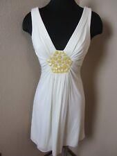 BCBG Maxazria Sleeveless Ivory Beaded Dress Lined Size Small S