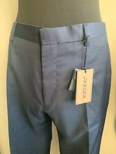 "JAEGER MENS NAVY BLACK MODERN WOOL TROUSERS W 34"" L 32"" REG G046 T2"