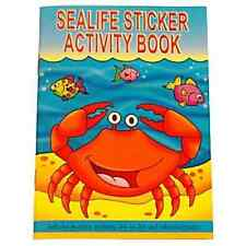 A6 Sealife Sticker Activity Book Puzzles Colouring Pages Fish Pocket Money Party