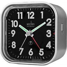Acctim 71807 Hudson Radio Controlled Metallic Black Alarm Clock