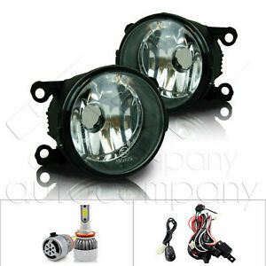 For 12-15 Fiat 500  Fog Lights w/Wiring Kit & C6 LED Bulbs - Clear