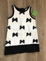 NWT Kate Spade Baby Girl Bow Dress Black And White Sequin 3t