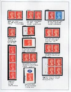 SPECIALISED COLLECTION OF UNMOUNTED MINT 1st & 2nd NVI MACHINS