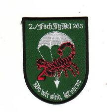 Bundeswehr Aufnäher Patch 2. Kompanie Fallschirmjäger Btl 263