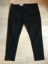 "BRAND NEW Ralph Lauren Women's Black Reiser Crop Skinny Jean. Size 29"" W"