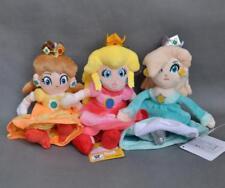 "3PCS New Super Mario Plush Doll Princess PEACH DAISY Rosalina Set Gifts 8"""