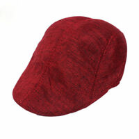 Cap Newsboy flat cap mens hat beret ivy cap golf gatsby cabbie herringbone