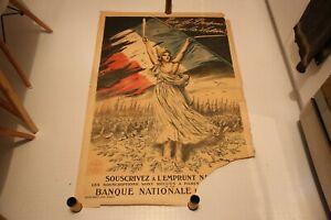 Affiche 14 18 ww1 Emprunt National Pour le Drapeau pour la victoire