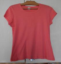 CAMAIEU, T-shirt femme T3 (40), couleur rose orange, manches courtes, coton
