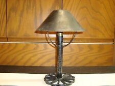 Vintage Primitive Candle Holder Lamp