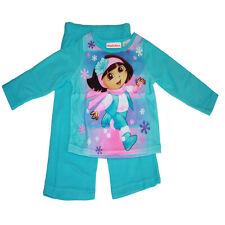 Nickelodeon Dora The Explorer Pajama 2 Piece Flannel Sleepwear 18M, 24M, 3T, 4T