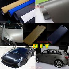 DIY Metallic Steel Matte Brushed ALUMINUM Vinyl Sticker for Car Phone Wrap - CF