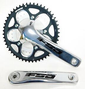 FSA Omega Compact Road Bike Double Crankset 172.5mm 50/34t 10/11s + BB30 Silver