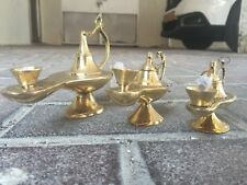Aladin Lamp Genie Lot 3 Aladdin Genie Oil Brass Lamps Decorative Set