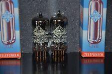 E88CC Telefunken 6922 NOS NIB platinum matched pair, low noise, gold pins <> btt