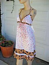 Summer Dress Dainty Flower & Animal Print By Honey Ocean & Earth NWT Size S
