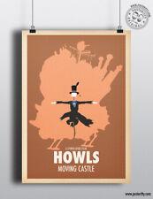HOWLS MOVING CASTLE - Minimalist Studio Ghibli Movie Poster Minimal Posteritty