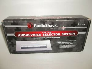New Radio Shack Technology Plus 4 In/1-Out Audio Video Selector Switch Vintage