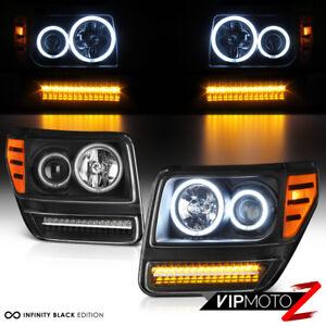"""Bright CCFL Halo Ring"" 07-11 Dodge Nitro Projector LED DRL Headlight Lamp Pair"