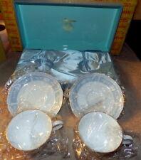 Noritake Lacewood 4 Piece Cup & Saucer - Pastel Floral Noritake Y6578C Japan