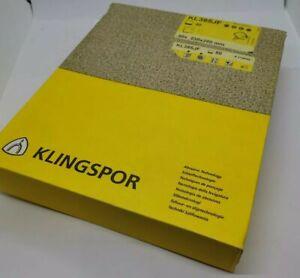 Klingspor Sanding papers sanding sheets 230X280mm pack of 50, KL385JF 50 Grain