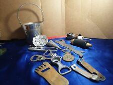 Vintage Bottle Openers, belt buckle & bar accessories