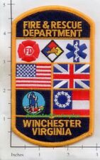 Virginia - Winchester Fire & Rescue VA Fire Dept Patch