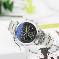 Fashion Men's Stainless Steel Alooy Clasp Sport Quartz Hour Wrist Analog Watch