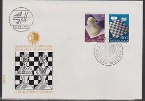 1972 YUGOSLAVIA 20th CHESS CHAMPIONSHIP SKOPJE ILLUSTRATED FDC STAMPS SG1529/30