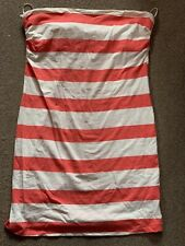 Ladies H&M Size M Bootube Dress Tunic Winter Sun  Beach Holiday Nautical Stripe